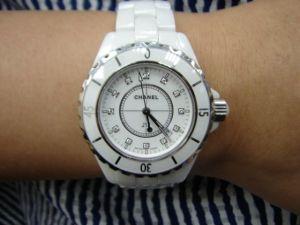 台中 流當品拍賣 原裝 CHANEL J12 33mm 石英 陶瓷 12鑽 女錶 9成5新 喜歡價可議 或交換