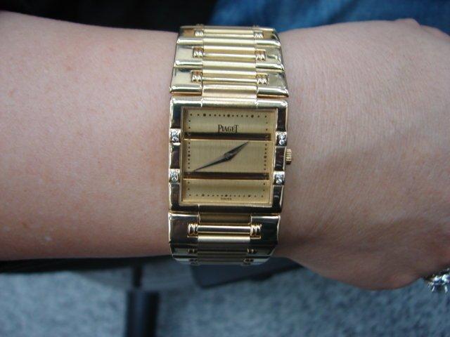 台中 流當品拍賣 原裝 PIAGET 伯爵 DANCER 舞者 18K金 石英 中性錶 9成5新 特價出清