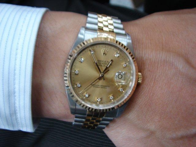 台中 流當品拍賣 原裝 勞力士16233 十鑽 男錶 附保單 9成5新 喜歡價可議