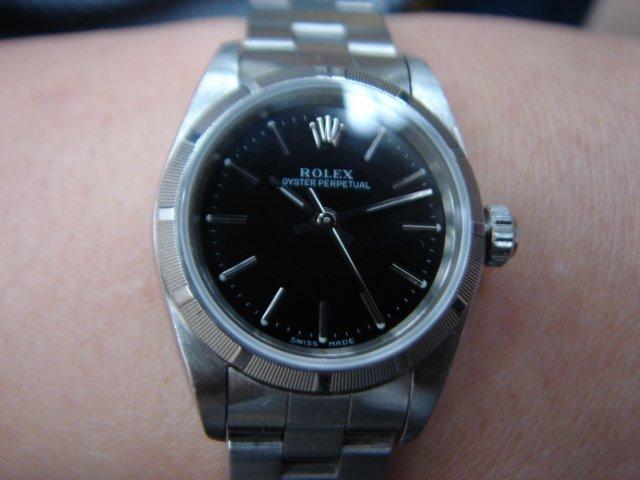 台中 流當品拍賣 原裝 勞力士 78240 黑面 自動 女錶 9成9新 喜歡價可議