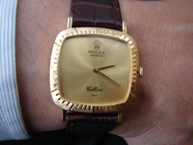 台中 流當品拍賣 原裝 勞力士 Cellini 徹里尼 18K金 手上鍊 男錶 9成5新 喜歡價可議