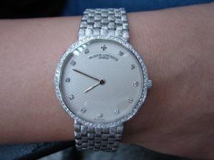 台中流當品拍賣 VACHERON CONSTANTIN 江詩丹頓 18K金 手上鍊男鑽錶 9成9新