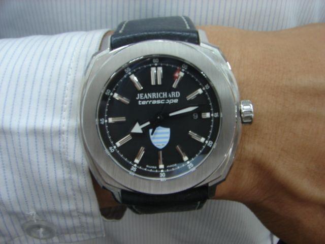 台中流當品拍賣 原裝 JEANRICHARD 尚維沙 大錶徑 自動 男錶 9成99新 附盒單