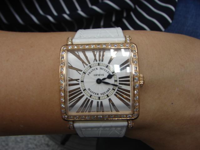 台中流當品拍賣 流當手錶拍賣 Franck Muller 法蘭克穆勒 6002 QZ D 18K玫瑰金 女錶 9成5新