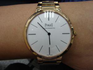台中流當品拍賣 流當手錶 新款 原裝 PIAGET 伯爵 超薄自動 18K 玫瑰金 自動上鍊 9成5新 盒單齊