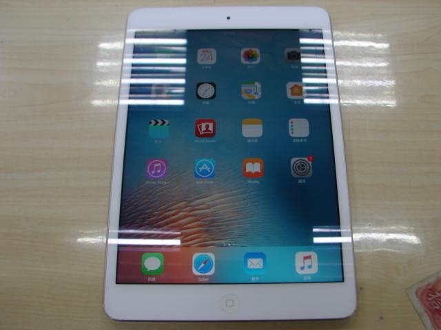 台中流當品拍賣 流當平板拍賣 iPad Mini2 16G A1489 銀 2015 9成新 ZC031
