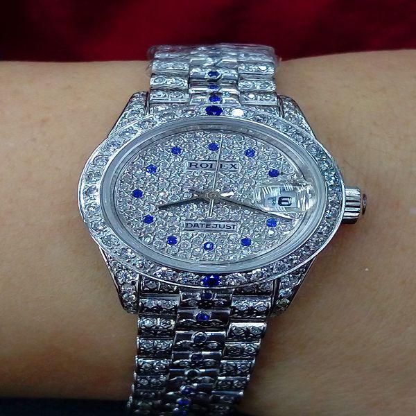 台中流當手錶拍賣 勞力士 69179 滿天星 鑽帶 K金 女錶 特價出清