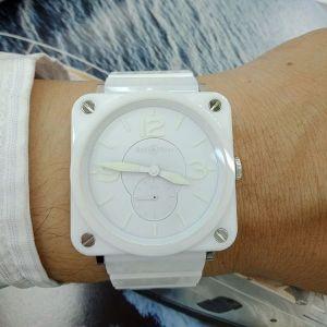 台中流當精品 原裝 BELL&ROSS BRS-98 陶瓷 石英 女錶 9成5新 盒單齊全 喜歡價可議 KR006