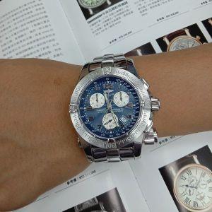 台中當舖流當拍賣 流當手錶 少有 原裝 BREITLING 百年靈 計時 石英 救難錶 9成5新 喜歡價可議 ZR502